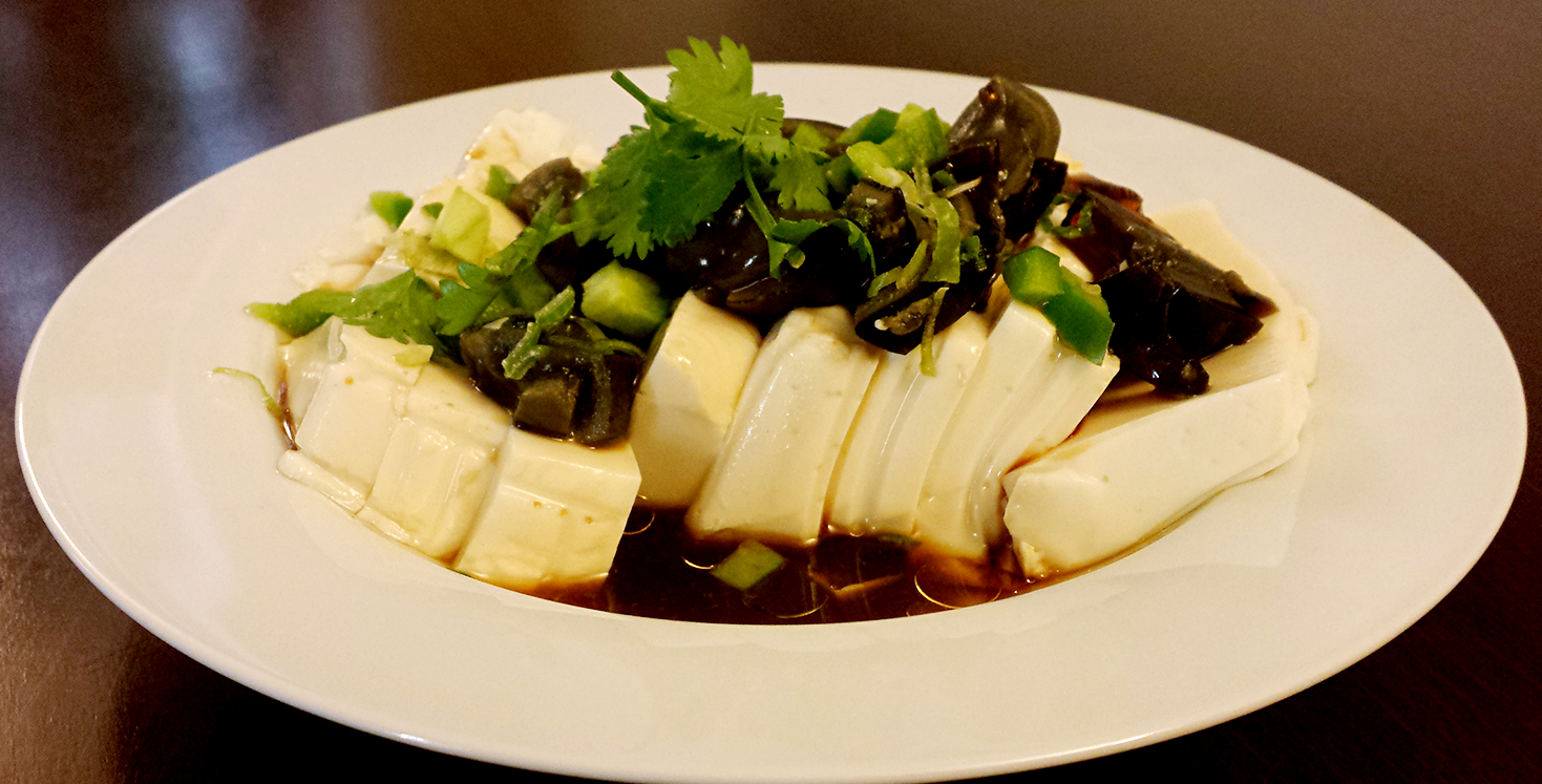 Tofu with Preserved Eggs